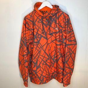 Under Armour Zip Up Loose Fit Orange Camo Hoodie
